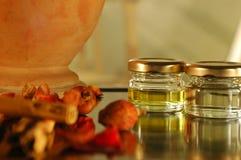 Homemade essential oils Stock Image