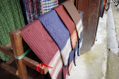 Homemade fabric Thailand Royalty Free Stock Images