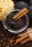 Homemade face and body organic all natural coffee scrub (peeling Stock Photos