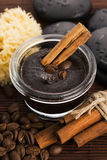 Homemade face and body organic all natural coffee scrub Stock Images