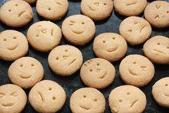 Homemade face cookies Stock Image