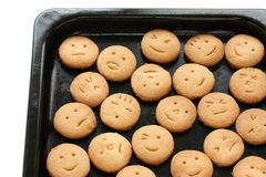 Homemade face cookies Royalty Free Stock Photos