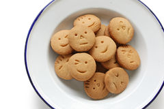 Homemade face cookies Stock Images