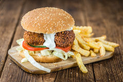 Homemade Falafel Burger Stock Image