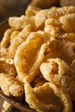 Homemade Fatty Pork Rinds. To Snack on Stock Photos