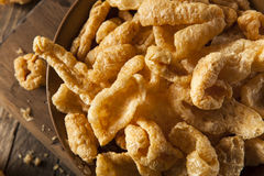 Homemade Fatty Pork Rinds. To Snack on Royalty Free Stock Photos