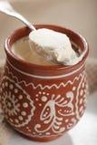 Homemade fermented baked milk Stock Image