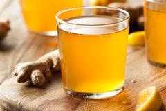 Homemade Fermented Raw Kombucha Tea. Ready to Drink Royalty Free Stock Images
