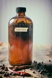 Homemade fermented rosemary vinegar Stock Images