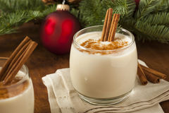 Homemade Festive Cinnamon Eggnog Stock Images