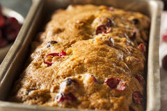Homemade Festive Cranberry Bread Royalty Free Stock Image