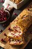 Homemade Festive Cranberry Bread Stock Image