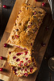 Homemade Festive Cranberry Bread Stock Photos