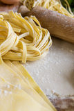 Homemade fettuccine and pasta Royalty Free Stock Photos
