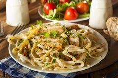 Homemade Fettucini Aflredo Pasta Stock Images
