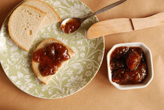 Homemade Fig Jam Stock Photos