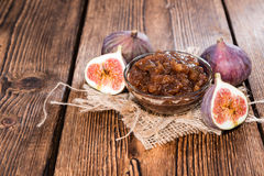 Homemade Fig Jam Royalty Free Stock Images