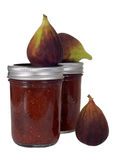 Homemade fig jam with figs Stock Photography