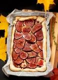 Homemade fig pie Stock Photos