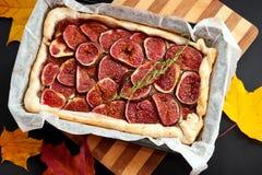 Homemade fig pie Stock Image