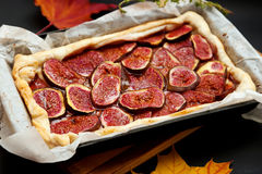 Homemade fig pie Royalty Free Stock Photo