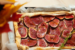 Homemade fig pie Stock Images