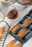 Homemade financier cake. French pastry royalty free stock image