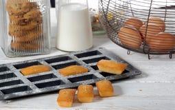 Homemade financier cake. French pastry stock photos