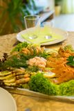 Homemade fish plate Royalty Free Stock Images