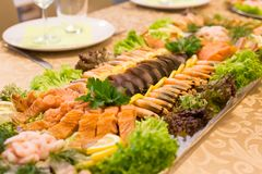 Homemade fish plate Royalty Free Stock Photography