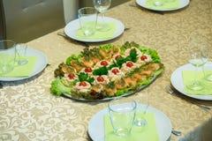Homemade fish plate Royalty Free Stock Photos