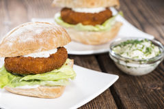 Homemade Fishburger Stock Image