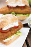 Homemade Fishburger Royalty Free Stock Image