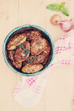 Homemade fishcakes, top view Royalty Free Stock Photography