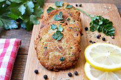 Homemade fishcakes Stock Photography
