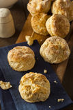 Homemade Flakey Buttermilk Biscuits. Ready to Eat Royalty Free Stock Image