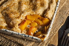 Homemade Flakey Peach Cobbler Stock Photography