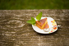 Homemade Flan dessert Royalty Free Stock Photography