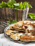 Homemade Flatbread with sorrel Stock Image