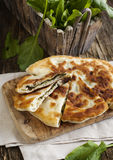 Homemade Flatbread with sorrel Stock Photos