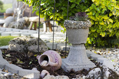homemade flower pot Stock Images
