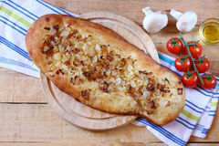 Homemade foccacia bread Royalty Free Stock Photos