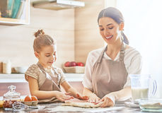 Homemade food and little helper Stock Photography