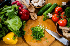 Homemade food preparation Stock Photo