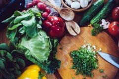 Homemade food preparation Stock Image