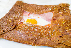 Homemade french buckwheat galette Stock Images