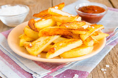 Homemade french fries Stock Images