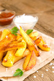 Homemade french fries Royalty Free Stock Images