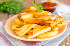 Homemade french fries Stock Photos