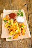 Homemade french fries Royalty Free Stock Photo